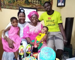 mrs ayo with grandchildren